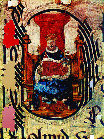 viii: Henry VIII on old painting