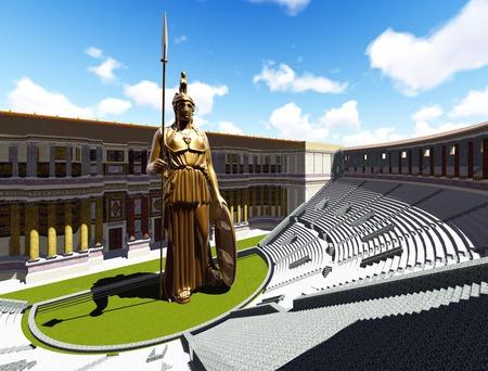 athene: Athene statue
