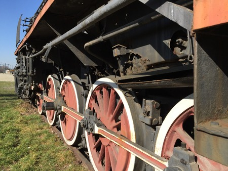 Historic steam engine photo