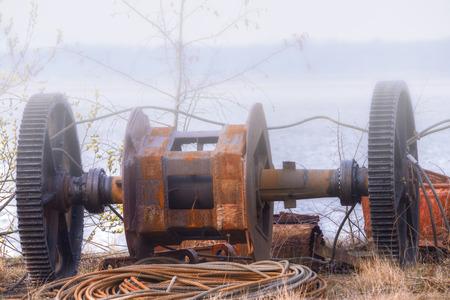 scrap iron: Metal junk Stock Photo