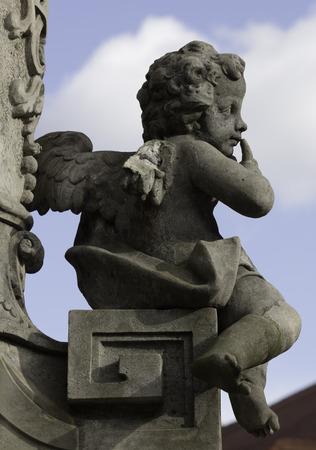 fallen angel: Fallen Angel Stock Photo