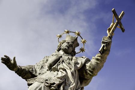 and saint: Christian Saint Stock Photo