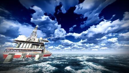 oilrig: Oil rig  platform