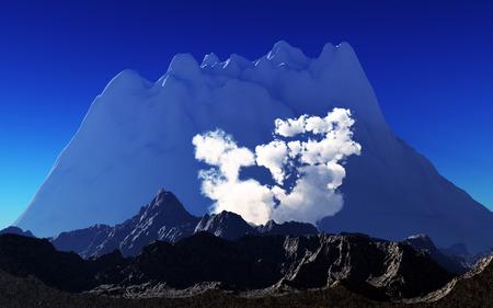 vulcanology: Volcanic eruption Stock Photo