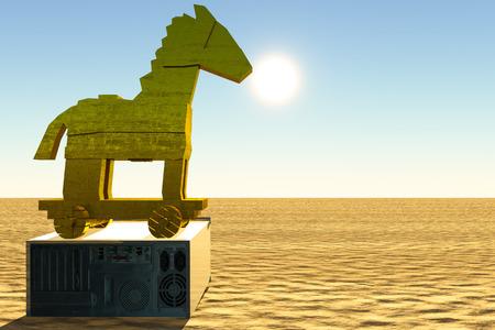 trojan horse: Cavallo di Troia e il computer