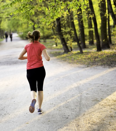 female jogger: Young female jogger