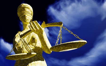 balanza de la justicia: Señora Justicia Escultura de mujer con la espada y la escala