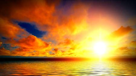 heaven?: Hermosa puesta de sol sobre el oc�ano