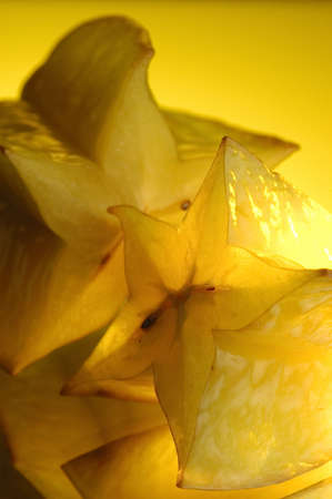Carambola and water on a mirror Stock Photo - 855833