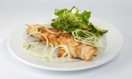 shish kebab: Shish kebab from the hen.