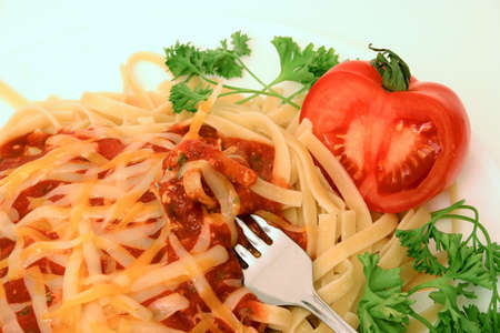 Freshly prepared meal close up with fork
