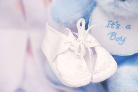 It's a boy! –  booties Stock Photo - 229318