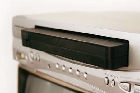 vcr: VCR with cassette tape