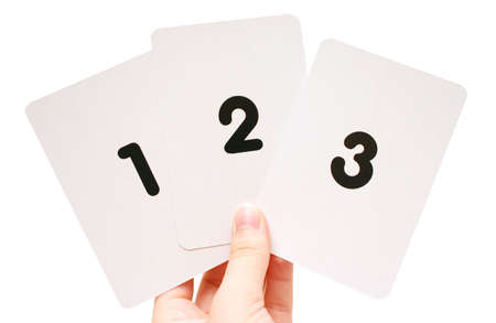 Number flash cards Stock Photo - 229317