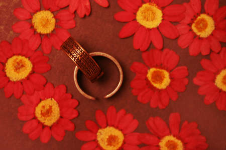 Rings and flowers photo