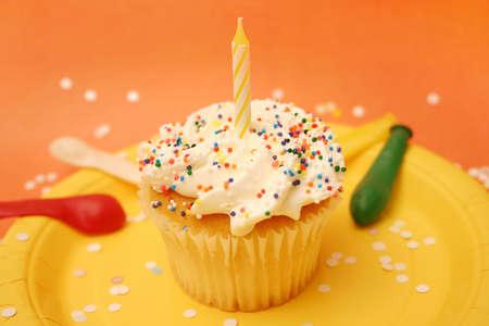 ta: Cupcake with confetti Stock Photo