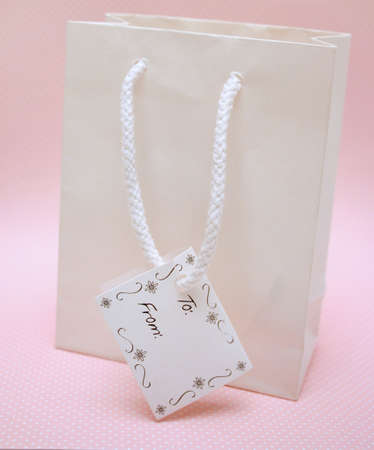 Gift bag with tag photo