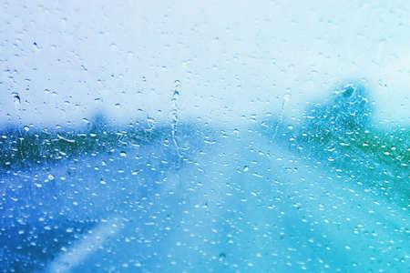 aandrijvingen: Rainy windscherm op een stormachtige dag Stockfoto