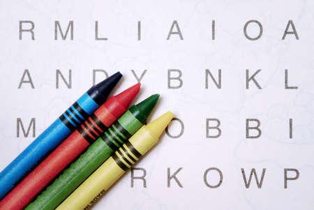 perplexing: La b�squeda de la palabra con l�pices de colores