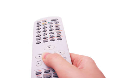 converter: Hand holding television remote