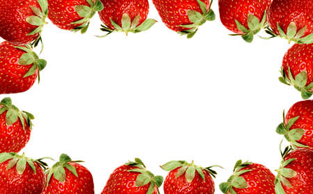 Strawberry frame Stock Photo