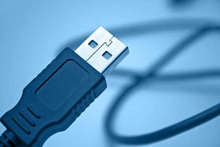 usb kabel: USB-Kabel, Blau,  Lizenzfreie Bilder