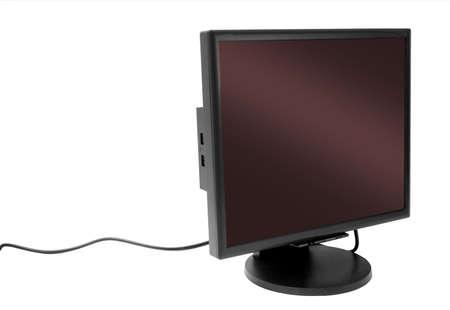 Flatscreen monitor isolated