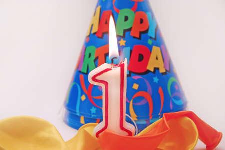 bonne: Birthday scene - lit candle