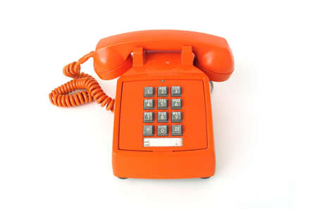 Old-school orange telephone