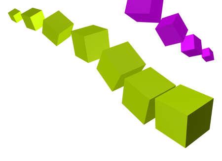 3d: 3D squares Stock Photo