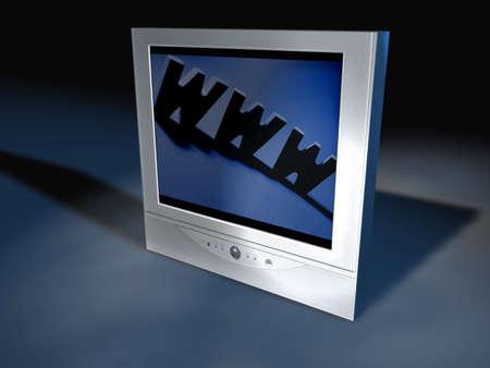 remote controls:  A flatscreen tv I created in Cinema 4D