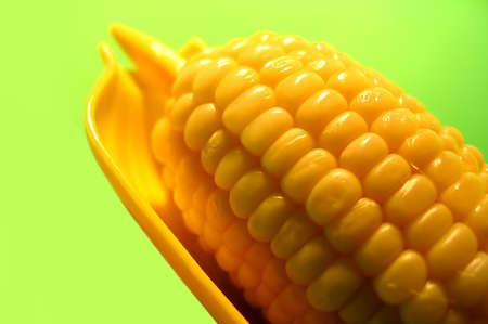 buttered: Buttered corn cob.