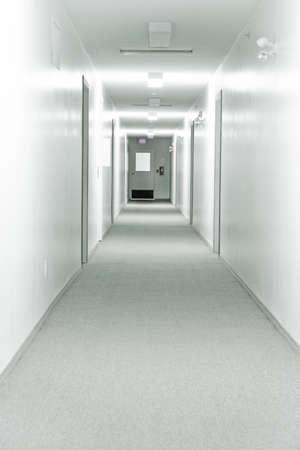 do not enter: Bright Hallway Stock Photo