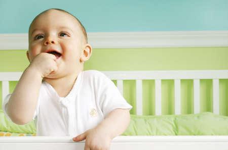 angeles bebe: Baby Boy Jugar en cuna