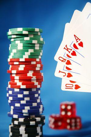 cartas de poker: Manos del p�ker - un rubor real