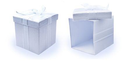 recieve: Open and closed fabric gift boxes - Hi-Res
