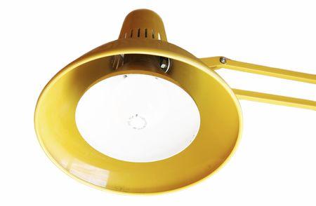lamp shade: Isolated yellow desk lamp