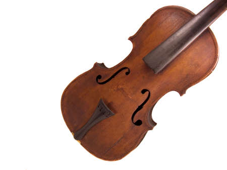 Antique violin without any strings attached  photo
