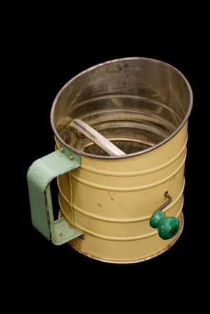 sifter: Early twentieth century kitchen flour sifter