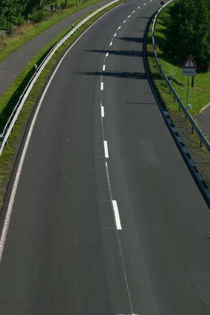 Two lane road Stock Photo