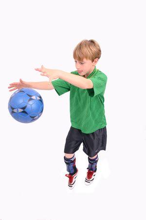 Soccer Kid 4, isolated Stock Photo