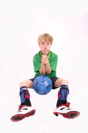 Soccer Kid 7, isolated Stock Photo