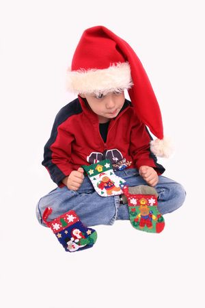 cousin: Christmas Boy 6 Stock Photo