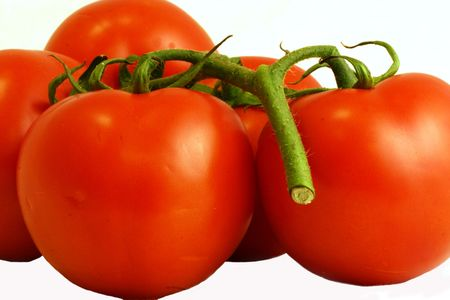 Tomatoes, close-up, isolated Stock Photo