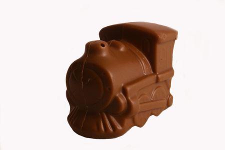 Chocolate train, isolated