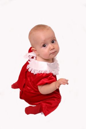 cousin: Christmas Baby Girl, isolated