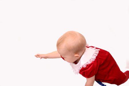 baby kerst: Christmas Baby Girl, geïsoleerde