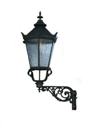 Vintage street lamp, isolated Stock Photo