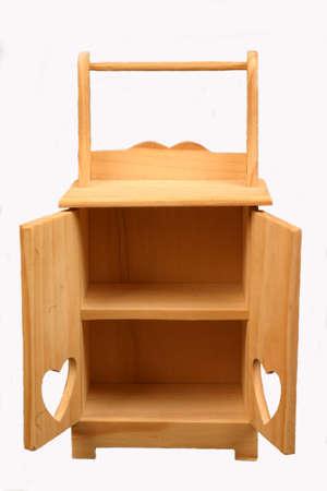 puppenhaus: Miniatur-Geh�use aus Holz, isoliert Lizenzfreie Bilder