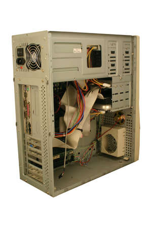 Open view of PC, isolated